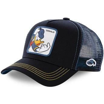 Capslab Youth Donald Duck KID_DON2 Disney Black Trucker Hat