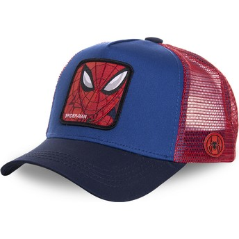Capslab Youth Spider-Man KID_SPI1 Marvel Comics Blue and Red Trucker Hat