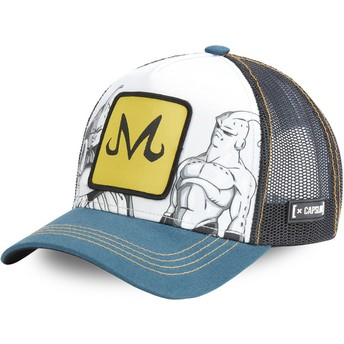 Capslab Majin Buu Appearances DBZ BUU Dragon Ball Grey, Blue and Black Trucker Hat