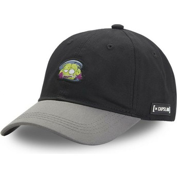 Capslab Curved Brim King Nikochan NIK1 Dr. Slump Black and Grey Snapback Cap