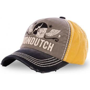 Von Dutch Curved Brim XAVIER08 Grey, Yellow and Black Adjustable Cap