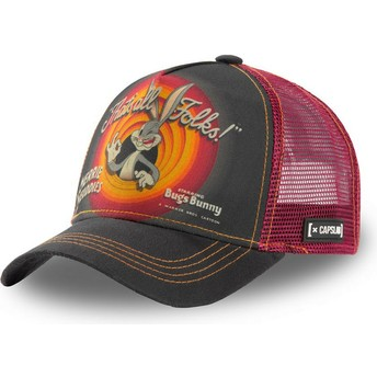 Capslab Bugs Bunny RIN1 Looney Tunes Grey and Red Trucker Hat