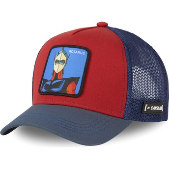 Capslab Daisuke Duke Fleed ACT1 UFO Robot Grendizer Red and Blue Trucker Hat