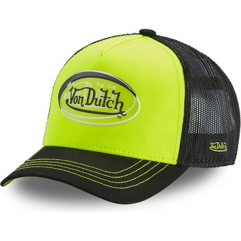 Von Dutch ANEO YEL Yellow and Black Trucker Hat