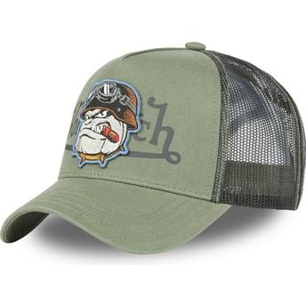 Von Dutch Bulldog BULL K Green Trucker Hat