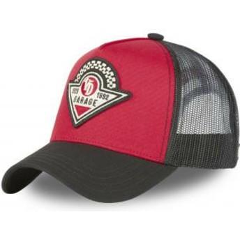 Von Dutch RAC RN Red and Black Trucker Hat