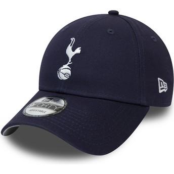New Era Curved Brim 9FORTY Essential Tottenham Hotspur Football Club Navy Blue Adjustable Cap