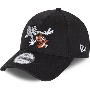New Era Curved Brim Tom and Jerry 9FORTY Looney Tunes Black Adjustable Cap