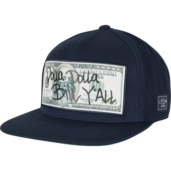 Cayler & Sons Flat Brim WL Dolla Billy Navy Blue Snapback Cap