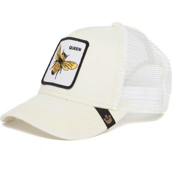 Cappellino trucker bianco ape Queen Bee di Goorin Bros.