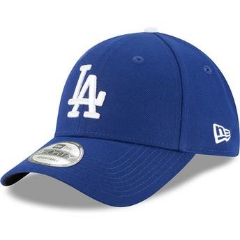 Cappellino visiera curva blu regolabile 9FORTY The League di Los Angeles Dodgers MLB di New Era