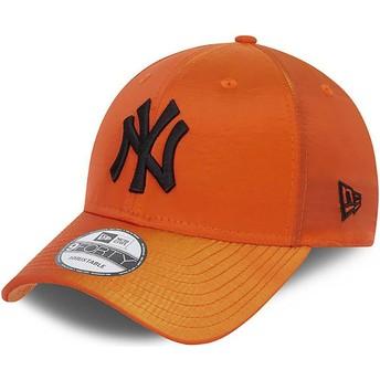 New Era Curved Brim 9FORTY Hypertone New York Yankees MLB Orange Adjustable Cap