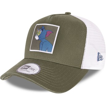 New Era Tom and Jerry A Frame Looney Tunes Green and White Trucker Hat