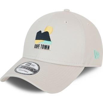 New Era Curved Brim 9FORTY Summer Cape Town Beige Adjustable Cap
