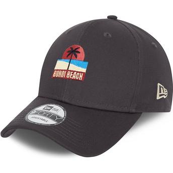 New Era Curved Brim 9FORTY Summer Bondi Beach Grey Adjustable Cap