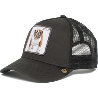 Goorin Bros. Bulldog Butch Brutus Drake The Farm Black Trucker Hat