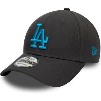 New Era Curved Brim Blue Logo 9FORTY REPREVE Pop Logo Los Angeles Dodgers MLB Grey Snapback Cap