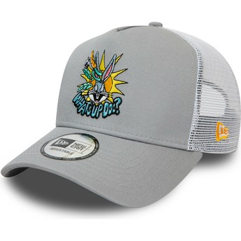 New Era Bugs Bunny Character A Frame Looney Tunes Grey Trucker Hat