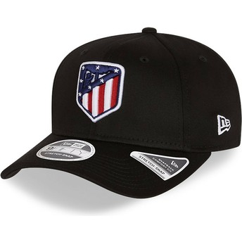 New Era Curved Brim 9FIFTY Essential Stretch Fit Atlético Madrid LFP Black Snapback Cap