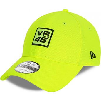 New Era Curved Brim 9FORTY Diamond Era Valentino Rossi VR46 Yellow Adjustable Cap