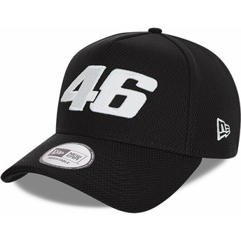 New Era Curved Brim Diamond Era A Frame Valentino Rossi VR46 Black Snapback Cap