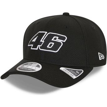 New Era Curved Brim 9FIFTY Diamond Era Stretch Fit Valentino Rossi VR46 Black Snapback Cap