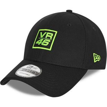 New Era Curved Brim 9FORTY Diamond Era Valentino Rossi VR46 Black Adjustable Cap