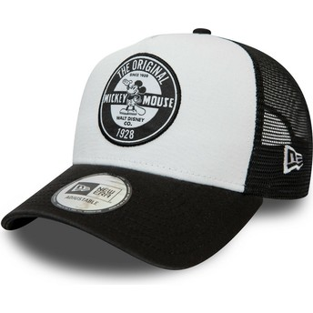New Era Character Mickey Mouse A Frame Disney White and Black Trucker Hat