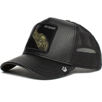 Goorin Bros. Crocodile Oh Snap Leaping Lizards The Farm Black Trucker Hat