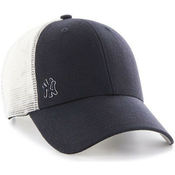 cappellino-trucker-nero-di-new-york-yankees-mlb-suspense-di-47-brand