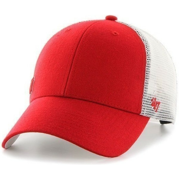 cappellino-trucker-rosso-di-new-york-yankees-mlb-suspense-di-47-brand