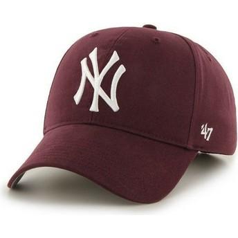 Cappellino visiera curva bordeaux di New York Yankees MLB di 47 Brand