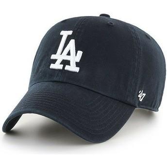 Cappellino visiera curva nero di Los Angeles Dodgers MLB Clean Up di 47 Brand