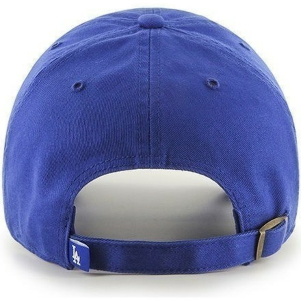 cappellino-visiera-curva-blu-di-los-angeles-dodgers-mlb-clean-up-di-47-brand