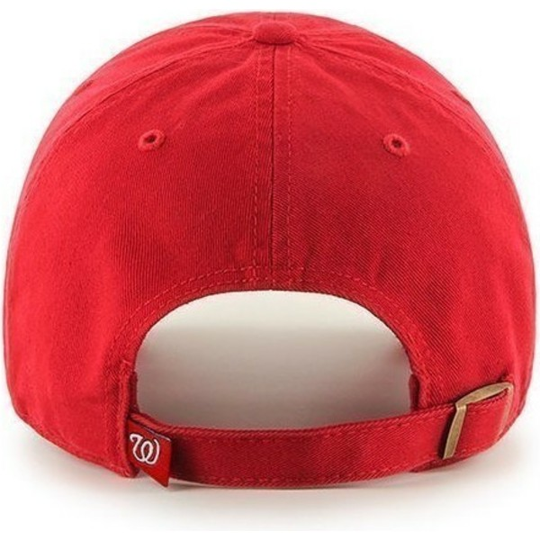 cappellino-visiera-curva-rosso-di-washington-nationals-mlb-clean-up-di-47-brand