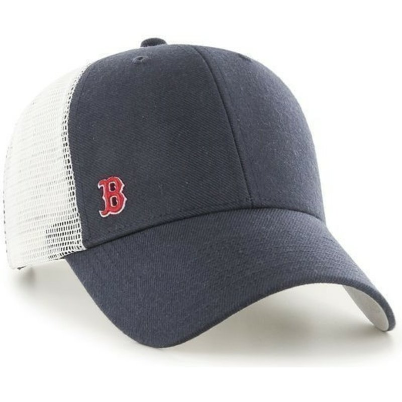 cappellino-trucker-blu-marino-con-logo-piccolo-di-mlb-boston-red-sox-di-47-brand