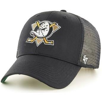 Cappellino trucker nero con logo frontale grande di NHL Anaheim Ducks di 47 Brand
