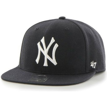Cappellino visiera piatta blu marino snapback tinta unita di MLB New York Yankees di 47 Brand