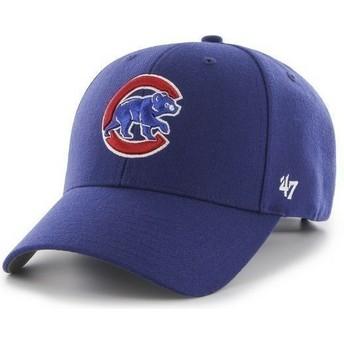 Cappellino visiera curva blu tinta unita di MLB Chicago Cubs di 47 Brand
