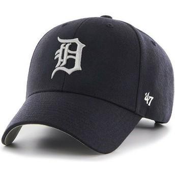 Cappellino visiera curva blu marino tinta unita di MLB Detroit Tigers di 47 Brand