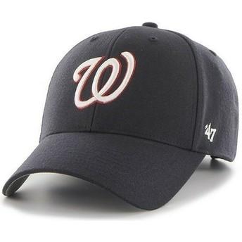 Cappellino visiera curva blu marino tinta unita di NHL Washington Nationals di 47 Brand