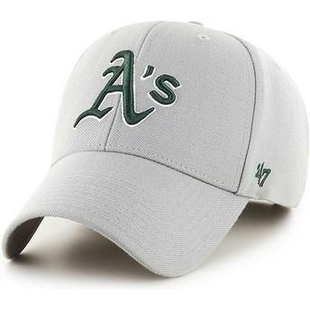 Cappellino visiera curva grigio tinta unita di MLB Oakland Athletics di 47 Brand