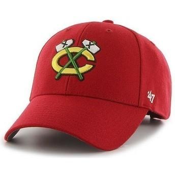Cappellino visiera curva rosso di NHL Chicago Blackhawks di 47 Brand