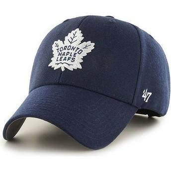 Cappellino visiera curva blu marino di NHL Toronto Maple Leafs di 47 Brand