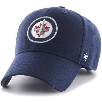 Cappellino visiera curva blu marino di NHL Winnipeg Jets di 47 Brand