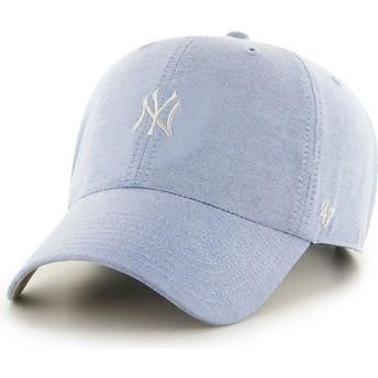 Cappellino visiera curva blu con logo piccolo di MLB New York Yankees di 47 Brand