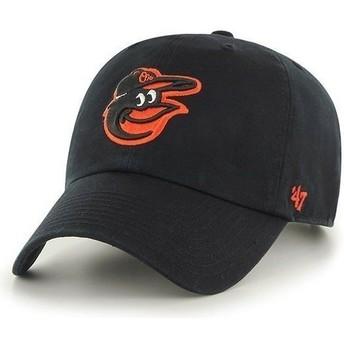 Cappellino visiera curva nero con logo frontale di MLB Baltimore Orioles di 47 Brand