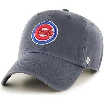 Cappellino visiera curva blu marino con logo frontale di MLB Chicago Cubs di 47 Brand