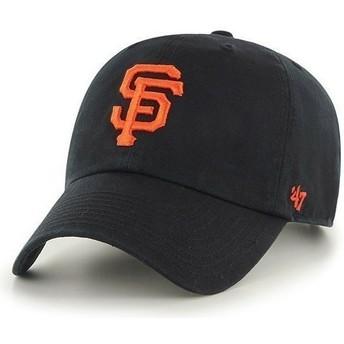 Cappellino visiera curva nero con logo frontale grande di MLB San Francisco Giants di 47 Brand