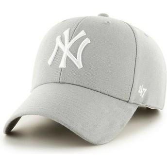Cappellino visiera curva grigio di New York Yankees MLB di 47 Brand